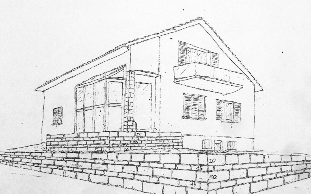 Stützmauer Sandstein in Wetzikon